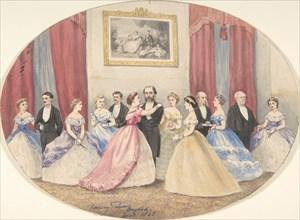 British Reception in Baghdad, 1865. Creator: W Henry Pierson.