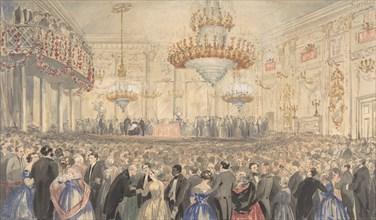Abolition Meeting Held at Willis's Rooms in Honor of Harriet Beecher Stowe, 1853. Creator: William Henry Fisk.