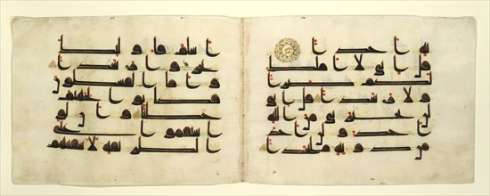 Bifolium from a Qur'an, late 9th-10th century. Creator: Unknown.