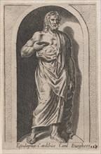 Speculum Romanae Magnificentiae: Esculapius (Esculapius in aedibus Card. Burghesij..., 16th century. Creator: Anon.