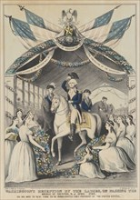 Washington's Reception by the Ladies on Passing the Bridge at Trenton, N.J., April 1789, o..., 1845. Creator: Nathaniel Currier.