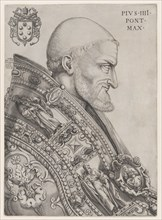 Portrait of Pope Pius IV, mid-16th century., mid-16th century. Creator: Nicolas Beatrizet.