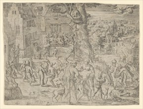 The Village Fair, 1549., 1549. Creator: Possibly by Peeter van der Borcht.