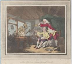 The Doctor Dismissing Death, 1785., 1785. Creators: Peter Simon, Francis Jukes.