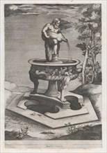 Speculum Romanae Magnificentiae: A Fountain and Basin, 1581., 1581. Creator: Pieter Perret.