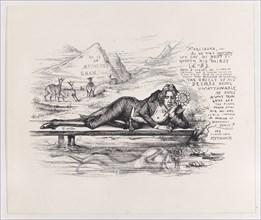 Oscar Wilde as Narcissus, ca. 1894., ca. 1894. Creator: Thomas Nast.