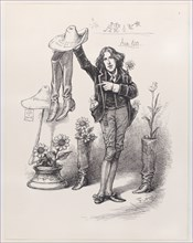 """Wilde on Us. Something To """"Live Up"""" To in America, June 10, 1882., June 10, 1882. Creator: Thomas Nast."""