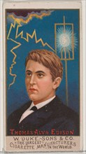 Thomas Alva Edison, from the series Great Americans (N76) for Duke brand cigarettes, 1888., 1888. Creator: Unknown.