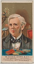 Oliver Wendell Holmes, from the series Great Americans (N76) for Duke brand cigarettes, 1888., 1888. Creator: Unknown.