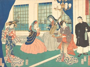 Drawing Room of a Foreign Business Establishment in Yokohama, 9th month, 1861.