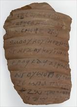 Ostrakon with Medical Recipes, Coptic, 580-640.