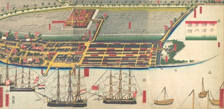 Pictorial Guide to Yokohama Harbor, 7th month, 1860.