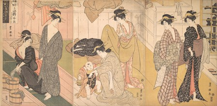 Women and an Infant Boy in a Public Bath House, ca. 1799.