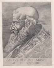 Pope Paul III, Bareheaded, dated 1534.