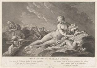 Venus Giving Nectar to Cupid, 18th century.
