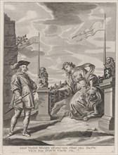 Plate 6: Ferdinand receiving the keys to the city of Ghent; from Guillielmus Becanus's 'Serenissimi Principis Ferdinandi, Hispaniarum Infantis...', 1636.