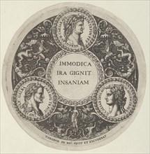 Design for a Dish with Portraits of the Roman Emperors Nero, Galba, and Caligula, ca. 1588.