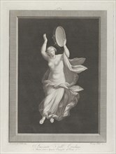 A partly naked bacchante playing a tambourine, ca. 1795-1820.