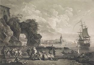 Vue de Pausilype Près de Naples, 1785. [Posillipo near Naples].