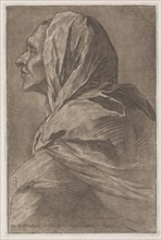 Head of a woman, ca. 1758.