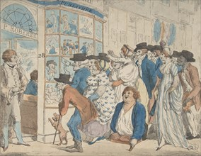 Caricature Shop of Piercy Roberts, 28 Middle Row, Holborn, 1801.