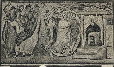 Stoning of Moses, Joshua and Caleb, Byzantine, early 20th century (original dated 5th century).