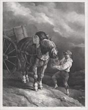 Boy Feeding a Cart Horse from a Nose Bag, 1822.