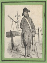 Soldier with a pegleg, mid-19th century.