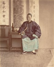 [Seated Chinese Woman with Fan], 1870s.