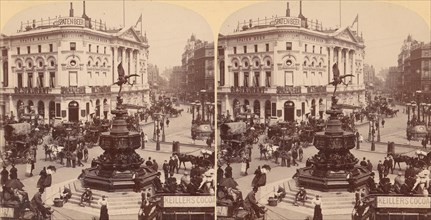 In the Heart of Modern Babylon, Piccadilly Circus, London, England, 1850s-1910s.