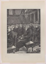 """Sunday at Chelsea Hospital (from """"The Graphic,"""" vol. 3), February 18, 1871."""