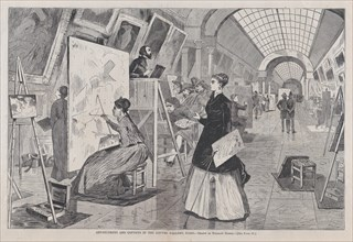Art-Students and Copyists in the Louvre Gallery, Paris (Harper's Weekly, Vol. XII), January 11, 1868.