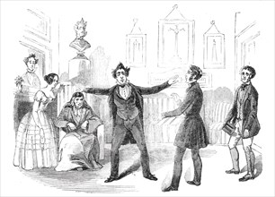 """Scene from the new drama of """"Martin Chuzzlewit"""" at the Lyceum Theatre"""