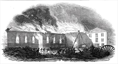 Great fire at the New-Cross Railway Station