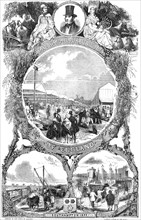 Royal Agricultural Society of England; arrival of the cattle by railway...