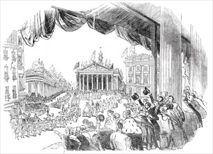The Procession passing the Mansion House