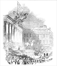 Inauguration of the Wellington Statue