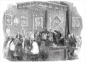 Ceremony of lying in state at the Ranger's House