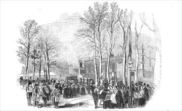 Departure of the funeral procession