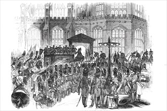 Arrival of the funeral procession at St. George's Chapel