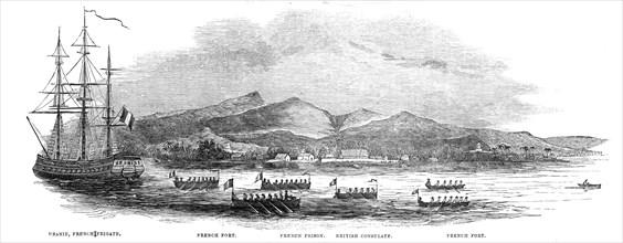 The French Blockade of Tahiti...1844.