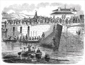 Prince Albert landing at Dover