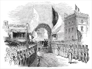King Louis Philippe entering the railway station