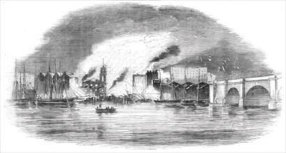 The Great Fire near London Bridge