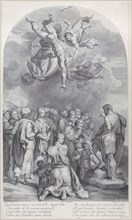 Plate 41: Saint John the Baptist preaching to a large crowd and baptizing children