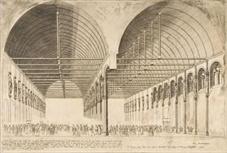 La salle des pas-perdus a l'ancien Palais de Justice (The antechamber of the Palais de Jus...