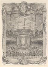 Decoration de la salle de spectacle construite a Versailles pour la representation de ...