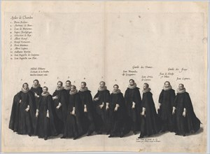 Plate 22: Chamber aides marching in the funeral procession of Archduke Albert of Austria;...