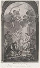 The Chapel of the Enfants-Trouvés in Paris: Les Rois mages Gaspard et Melchior adorant l'E...