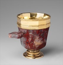 Jasper Cup with Gilded-Silver Mounts, Bohemian, ca. 1350-80. Product of the imperial court of Charles IV (crowned at Rome 1355; d. 1378).